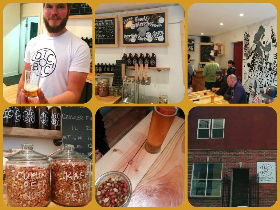 One of the many craft breweries in the neighbourhood