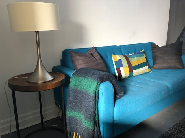 Designer EQ3 sofa for relaxing.