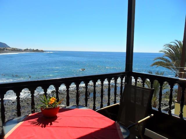 Schöne Wohnung direkt am Atlantik - Valle Gran Rey - Apartamento