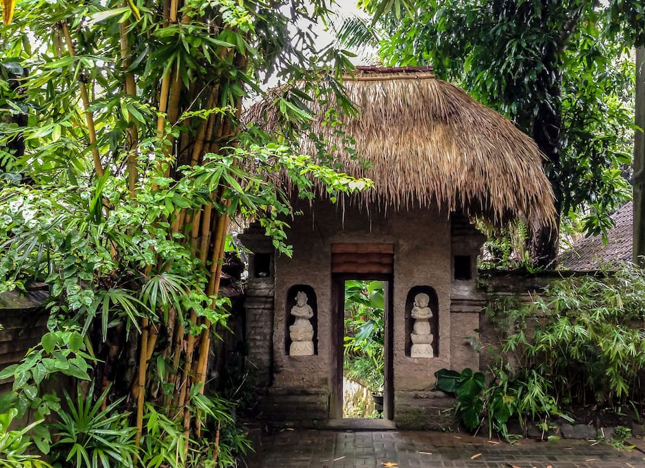 Traditional Balinese entry to the villa.