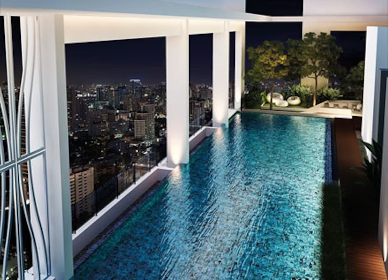 Rooftop Swimming pool,Sauna and Jacuzzi