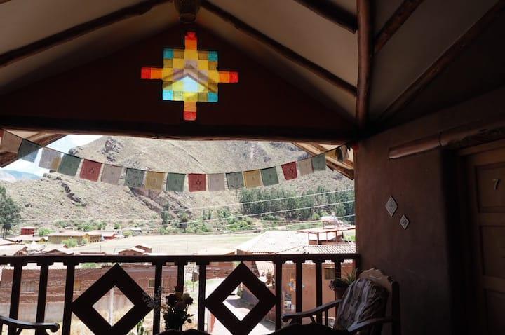 La Chakana Pisac Rm#4- Dble bed, garden view, desk