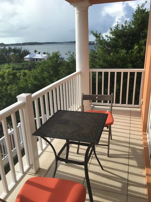 Master bedroom porch overlooking the sound