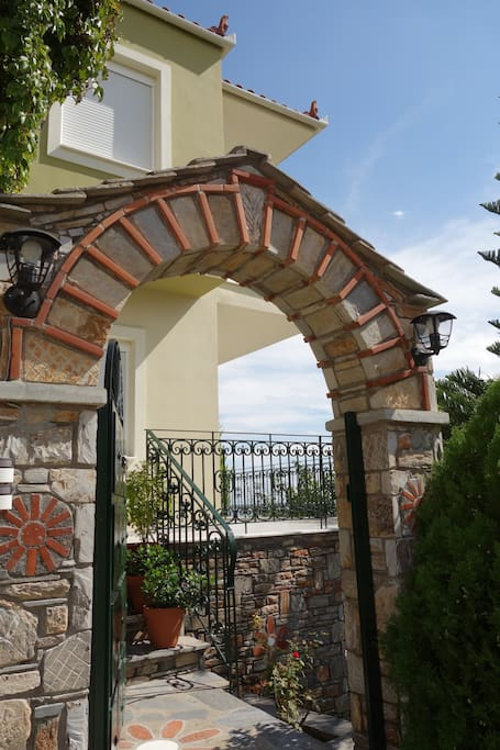 The outside's entrance of house