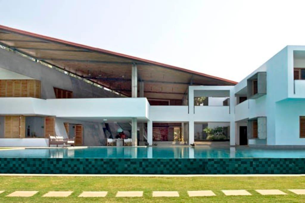 Exterior views of Nirvaana