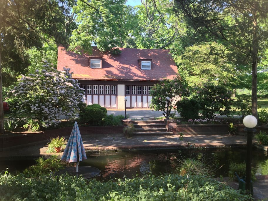 carriage house and fresh water pool