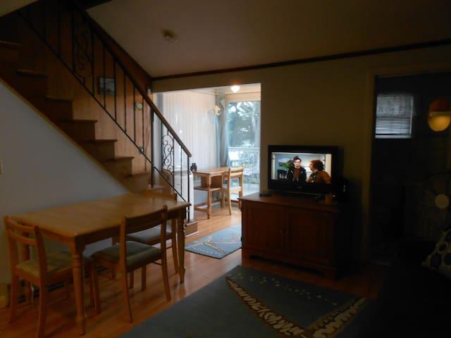 Stairway to sleep loft