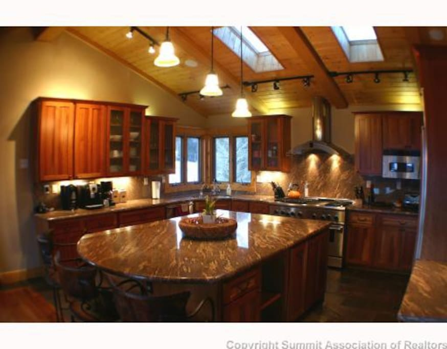Penthouse: Another view of the gourmet kitchen