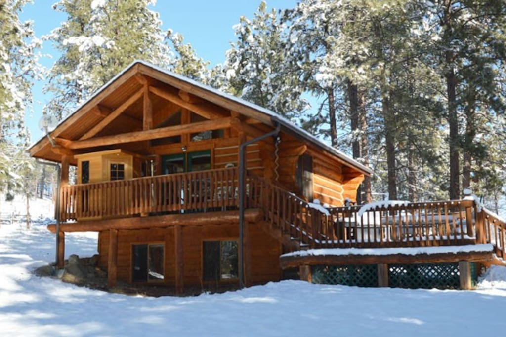 Winter View of Lupine Cabin