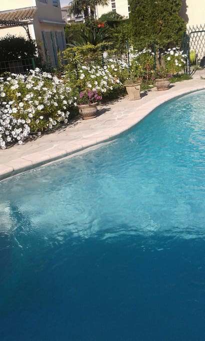 Piscine privative pour les chaudes journées d'été.