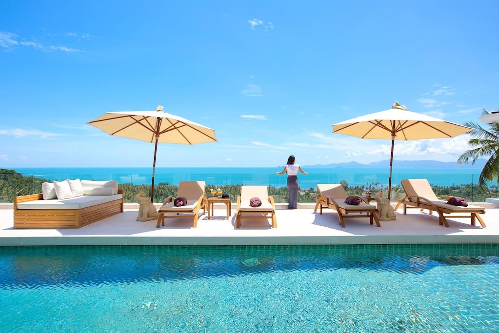Panoramic sea-views overlooking Ang-Thong Marine Park & Koh Pha Ngan