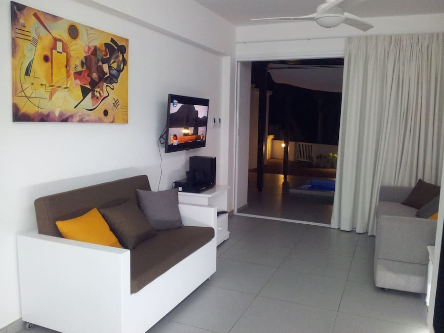 living room- single sofa/ bed