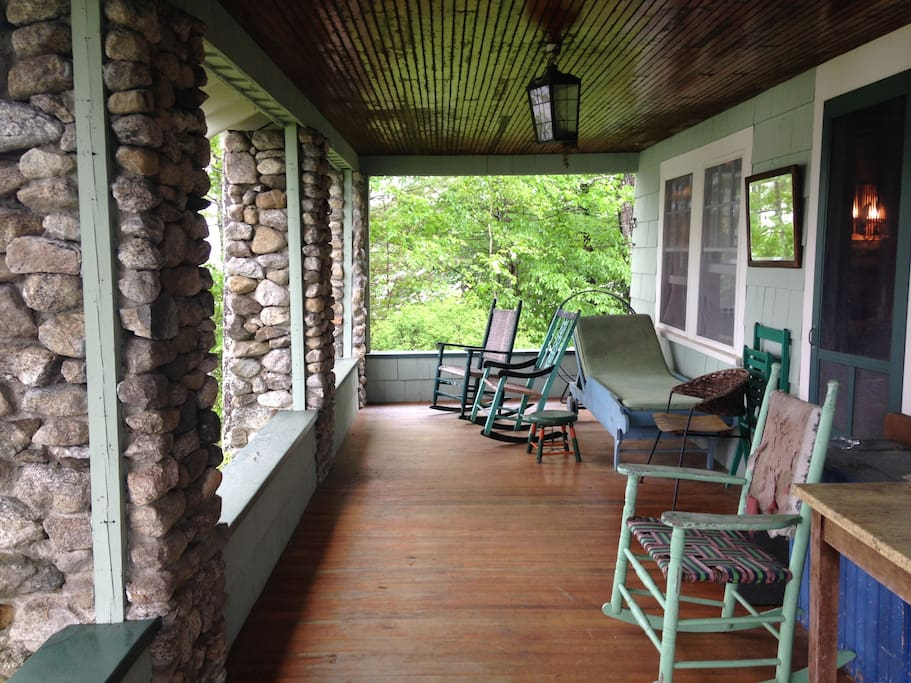 front porch, lake view on three sides.