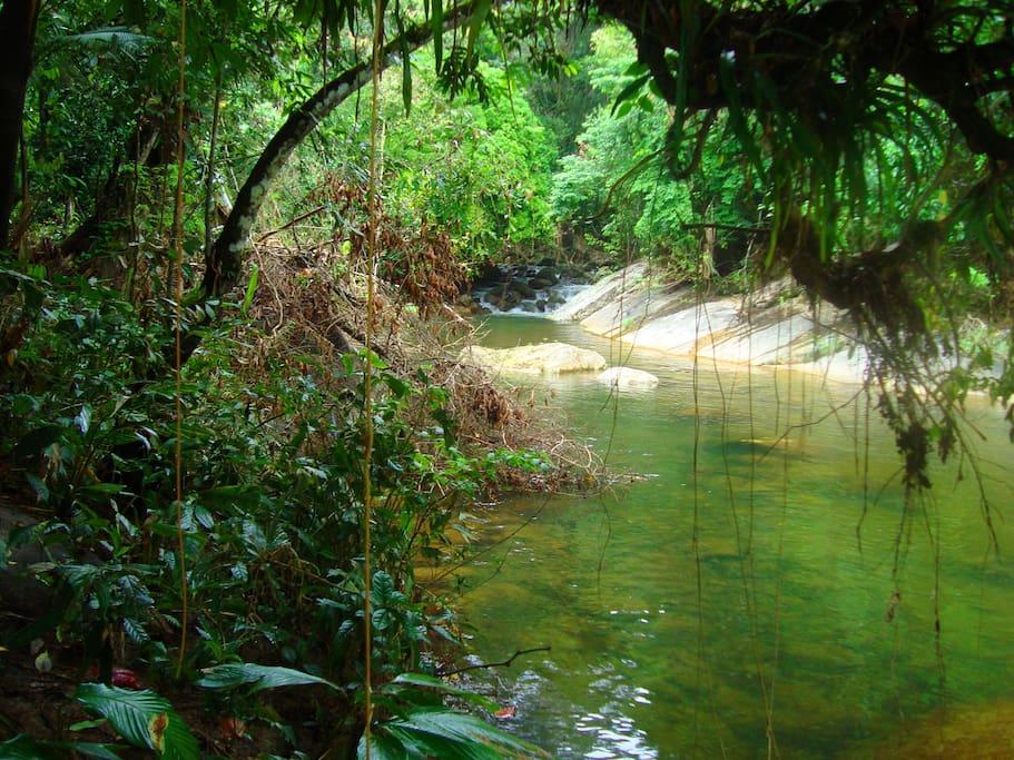 outra parte rasa do rio