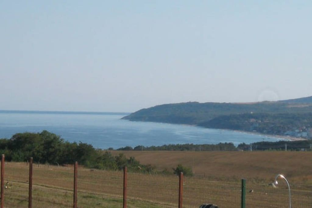 View from the pool and house towards Obzor Bay and Cape Kaliakra.