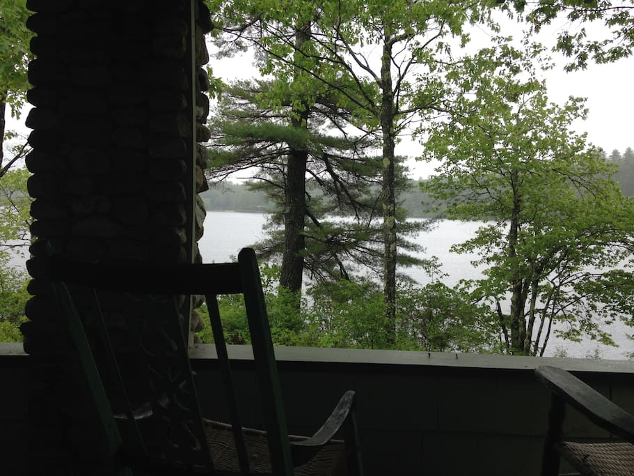 Lake view from front porch.