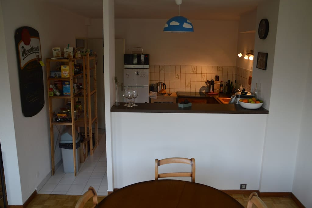 The full feature kitchen from our dining room.