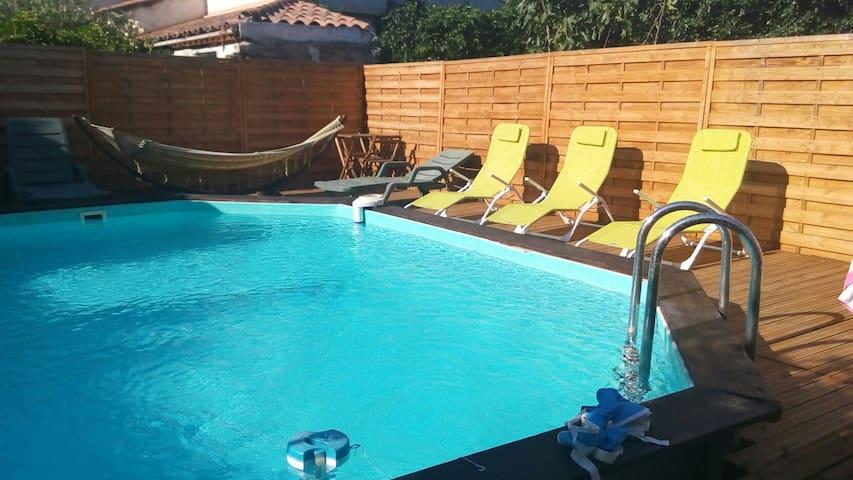Gîte 4 personnes + piscine - Jonquières - House