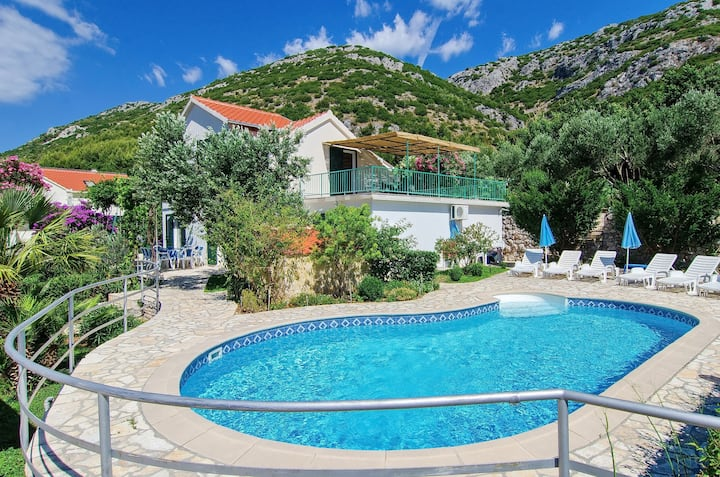 Villa Klara - Holiday Home with Terrace, Pool and Sea View