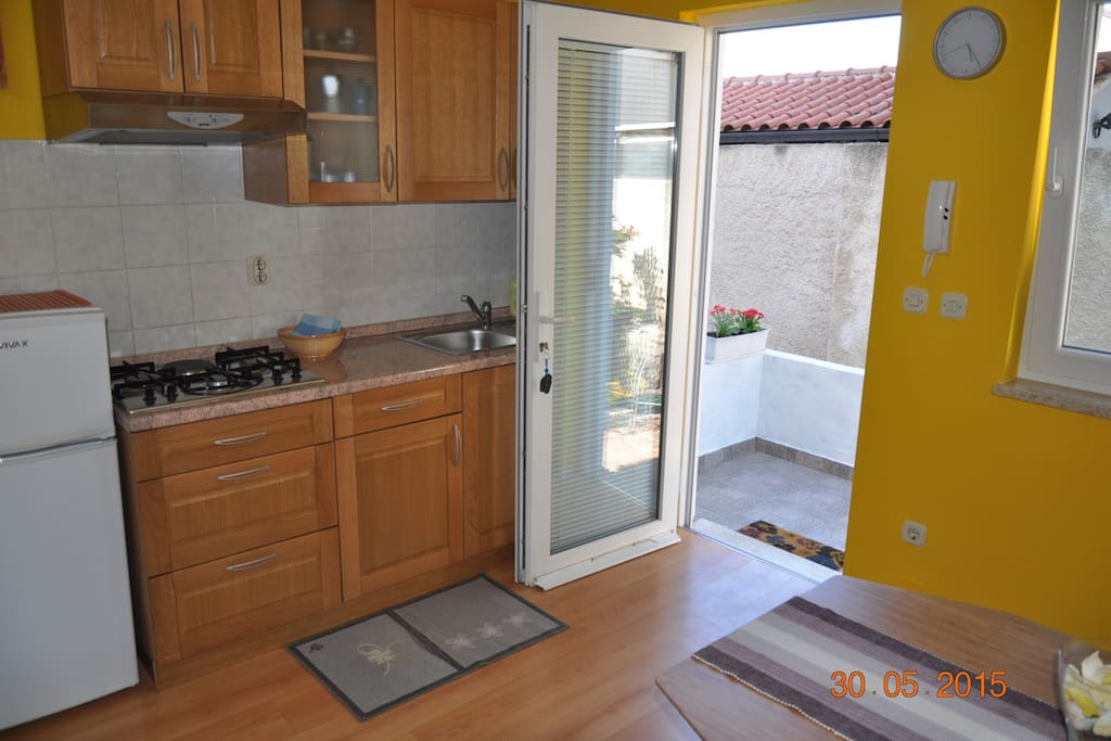 Kitchen and entrance in apartment