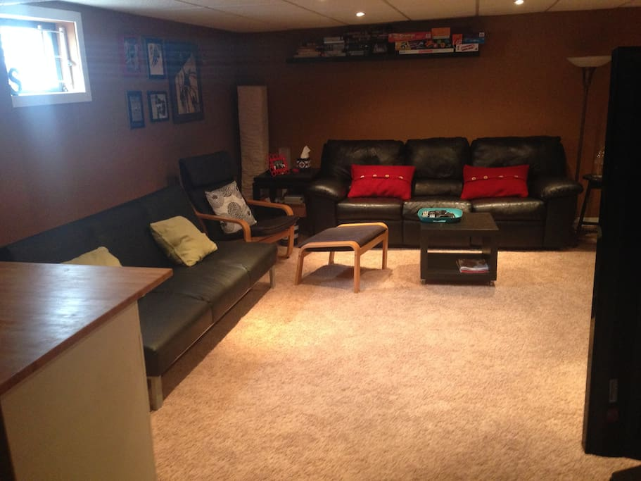 Living room adjoining to bedroom