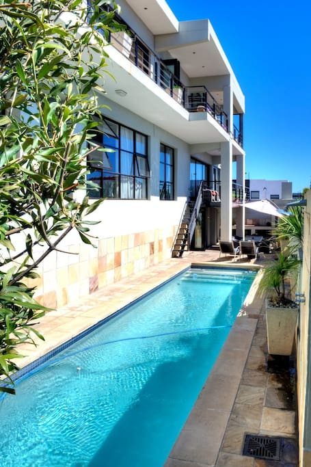 Dive in, the pool is long and refreshing on those hot Cape Town days!