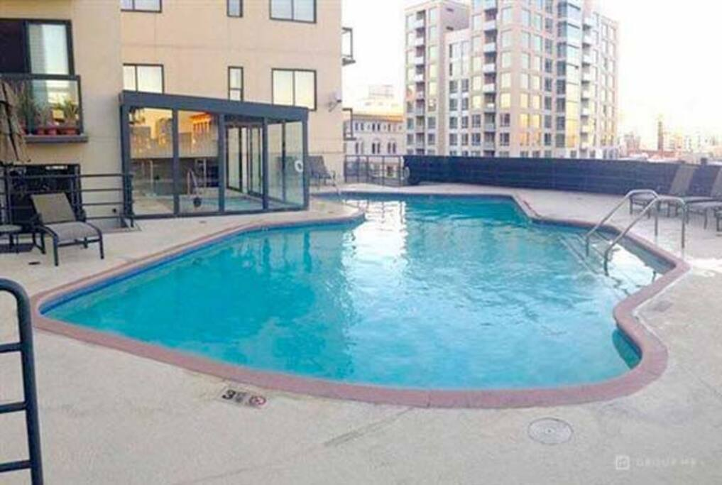 heated pool and indoor hot tub. sauna indoors not pictured