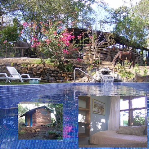 First room in two room cabin. - San Rafael Abajo - Bed & Breakfast
