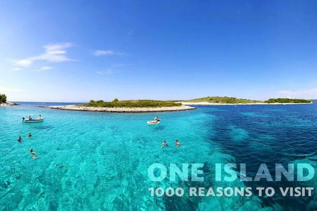Islands in front of Hvar