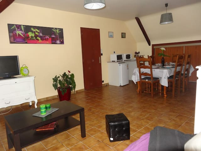 Appartement 3 à 5 pers + cuisine - Questembert - Dům