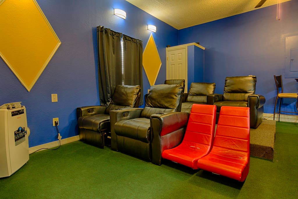 Luxury theater-style seating