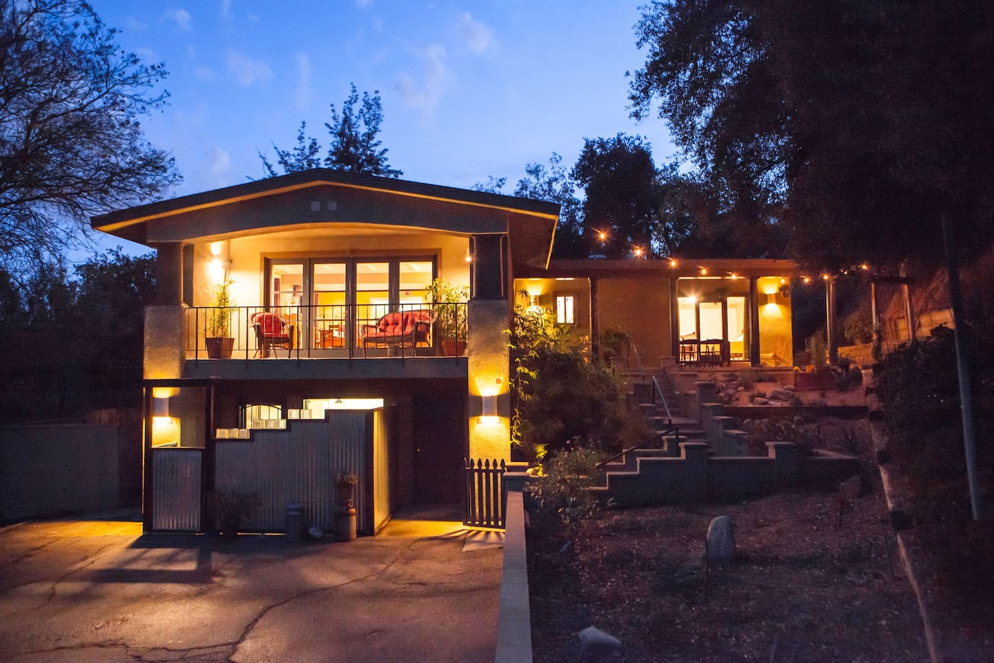 Our house up in the trees is perched atop a hillside acre in the heart of So Cal.