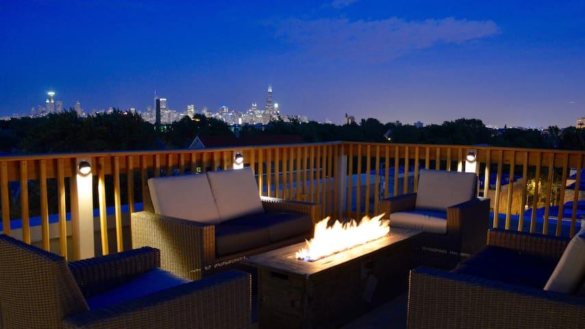 Chicago Penthouse w/ roof deck & skyline views - Chicago - Departamento