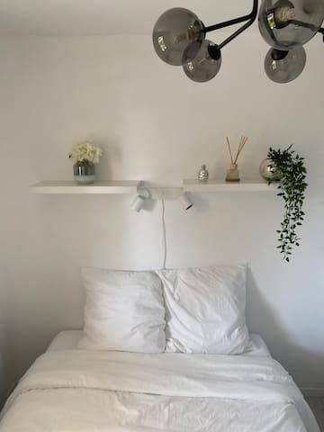 Le linge de lit est fourni, pas besoin d'encombrer ses valises !