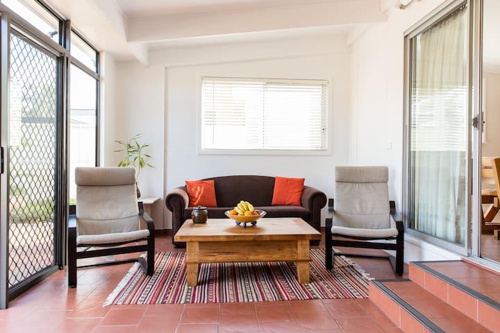 Sunroom and TV area