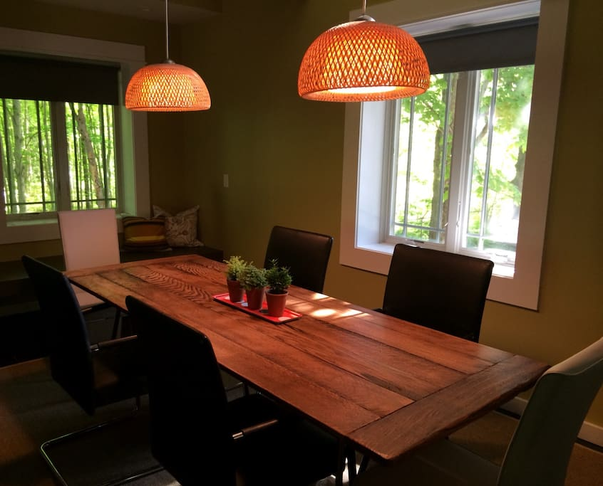 Large custom made dining table.