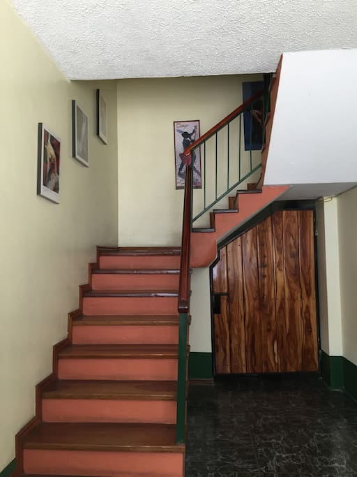 Staircase to apartments