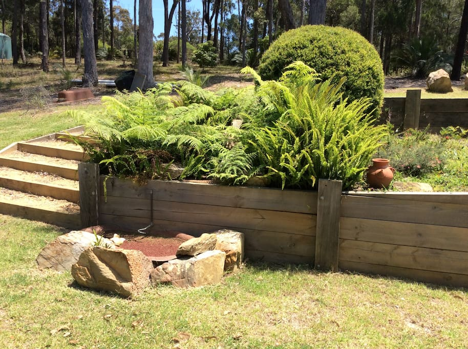Water feature and native gardens