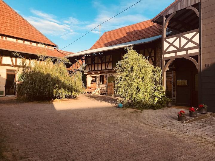 Gemütliche Landhaus Wohnung Kamin, Garten & Pferde