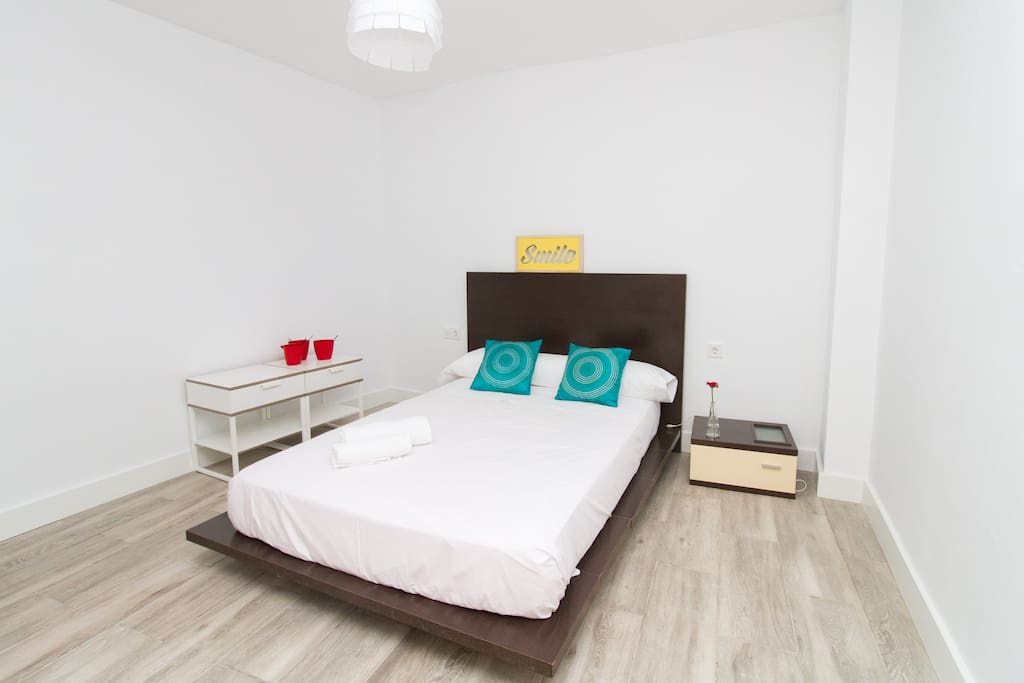 Master bedroom - spacious with comfortable double bed