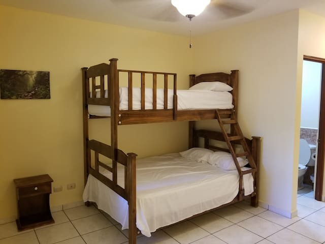 50 meters from beach - 1 double bed/single bunk