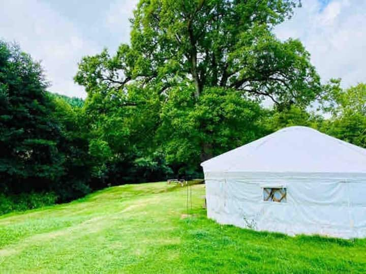 Large Yurt in exclusive secluded riverside setting