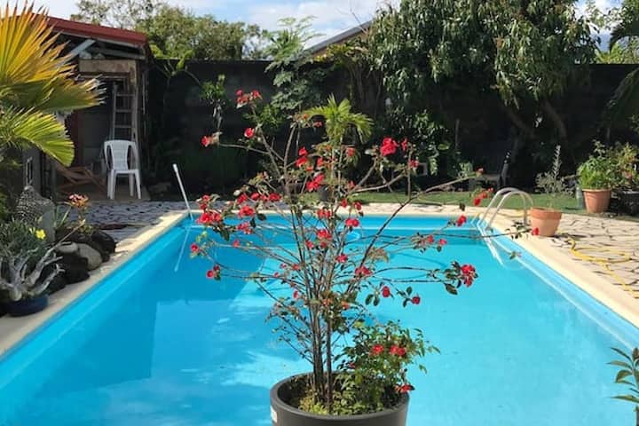 House with 2 bedrooms in Bras-Panon, with shared pool, furnished garden and WiFi