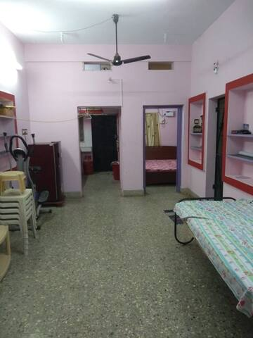 1BHK house (hall, bedroom and kitchen full view)