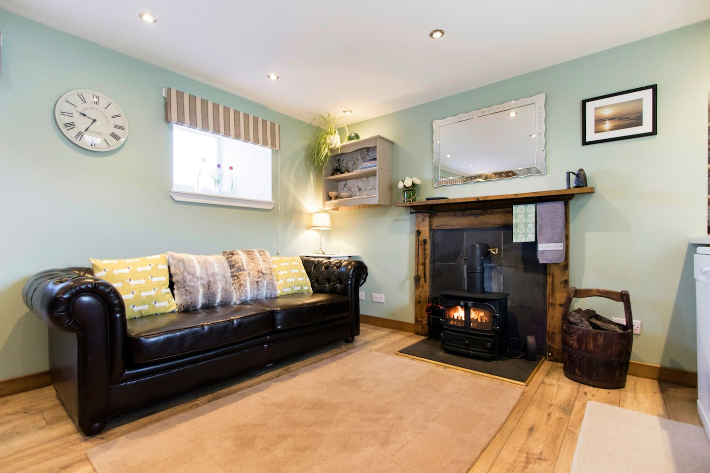 A warm welcome awaits you in the cottage