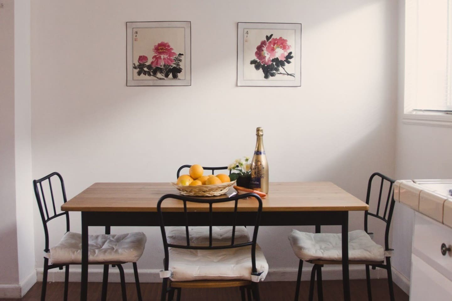 Indulge in the luxury of a well-deserved meal after a long day in our simple dining table.