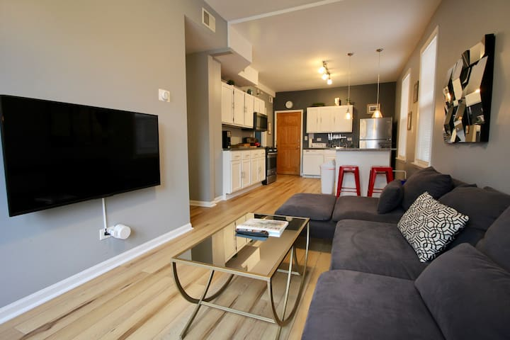 2F Modern Smarthome Condo w/ Deck on Tree Lined St