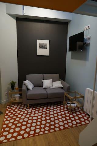 Studio meublé en duplex, presqu'île
