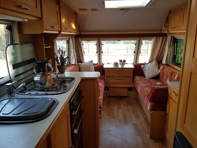 Spacious but cosy caravan experience