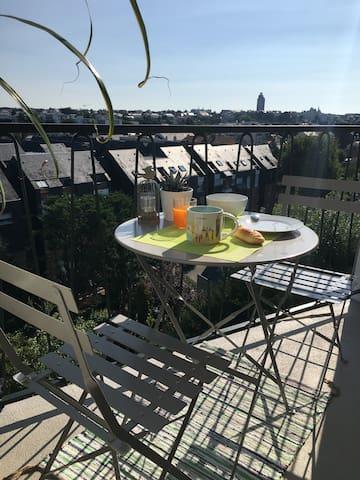 Bel appartement avec vue de 62 m2, Procé-Zola - Nantes